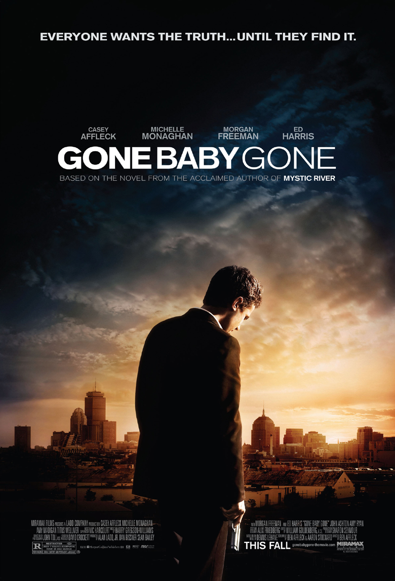 my review of gone baby gone 2007 i found it at the movies gone baby gone poster